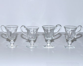 Antique Glass Custard Cups, Set of 4