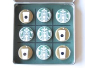 STARBUCKS Tic Tac Toe  - Magnetic Office or Travel Tic Tac Toe Game