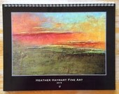 2015 Wall Art Calendar with 13 images of Heather Haymart original paintings