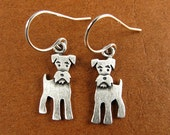Tiny schnauzer earrings