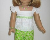 American Girl Doll Clothes - Shorts Outfit with Shoes and Accessories