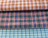 Fat Quarter Bundle of Vintage Primitive Homespun Fabric Gingham Cotton Plaid Sewing Quilting Folk Art Crafting Supplies Doll Making Material