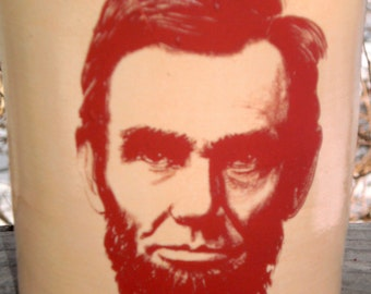 Abe Lincoln Jug Ceramic Handmade