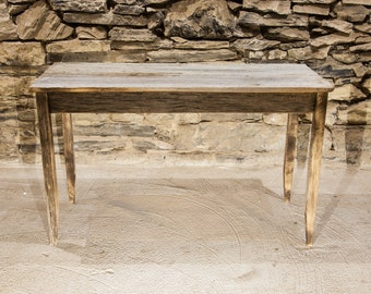Free Shipping! Weathered Grey Accent Table from Reclaimed Barnwood