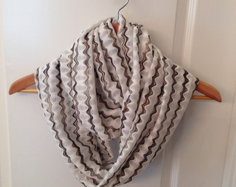 Infinity jersey cotton scarf hand made ready to ship beautiful colors for spring