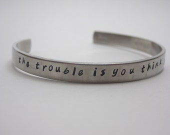 Buddha Quote Customizable Hand Stamped Cuff Bracelet