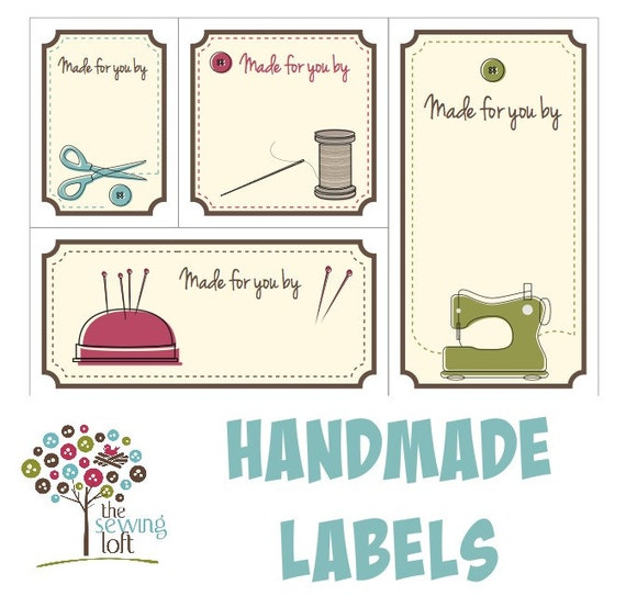 Witty image throughout printable quilt labels
