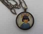 GP - A-9 Graphic pendant,  Pretty Poppies O My Ladies.