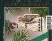 """Mill Hill Counted Glass Bead Kit - """"Flying Angel"""" Ornament"""