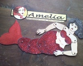 Amelia fat mermaid articulated paperdoll cut assemble