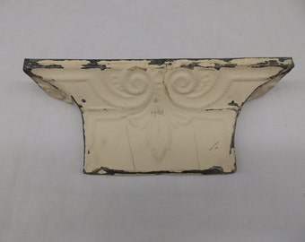 Antique Tin Ceiling Repurposed 1 Ft Shelf  Ledge Shabby Recycled Chic 2487-15