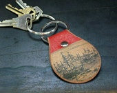 Nautical leather keychain