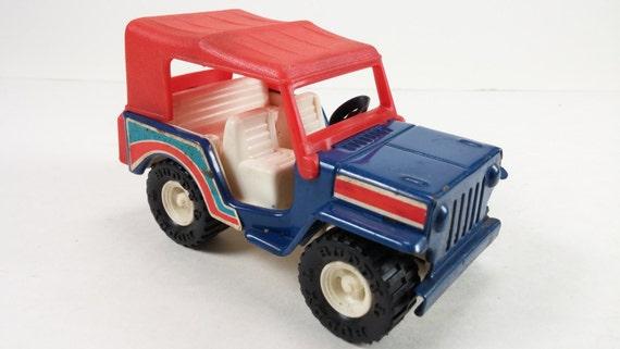 Big Boy Toys Cars : Vintage red and blue toy car jeep big boy