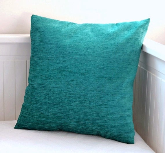 blue teal cushion cover accent pillow cover 16 x 16 inch. Black Bedroom Furniture Sets. Home Design Ideas