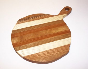 Skillet Cutting Board Handcrafted from Mixed Hardwoods