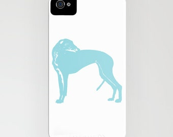 Greyhound Dog on Phone Case - greyhound gifts, Samsung Galaxy S6, iPhone 5C, iPhone 6S, iPhone 6 Plus, Gifts for Dog Lovers, aqua color