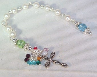 Family Pocket Rosary - Up to 12 Birthstones