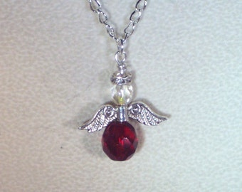 Swarovski Crystal Jewelry - Birthstone Angel - Made to Order - Any Color, Any Month