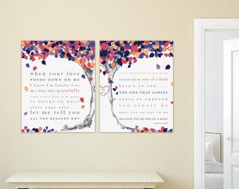 Wedding Song Art, Close Your Eyes, First Dance Lyrics, First Anniversary Gift // Choose Art Print or Canvas // W-L08-2PS HH4