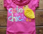 Easter Shirt, Baby Girl Clothes, Birthday Shirt for Girls, Easter Egg Hunt Shirt, Cute Chick Shirt, Easter Basket Gift, Ready to Ship Shirt