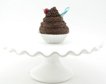 Fake Cupcake Double Chocolate Standard Cupcake. Can Be an Ornament. Photo Prop, Kitchen Decor, etc. 12 Legs Original Etsy Design.