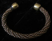 By Request: Matching pair of twist bracelets Copper/Brass