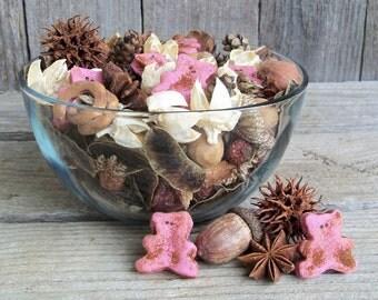 Baby Bear Pink Potpourri, Rustic, Nursery Fragrance, Nursery Potpourri, Lavender, Chamomile, Baby Gift, Refresher Oil Included