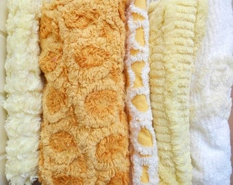 Yellow vintage chenille bundle