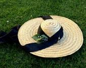 Scarlett O'Hara Barbecue Straw Hat Edwardian GWTW