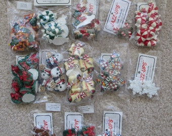 Scrapbook Embellishments: Christmas Flat Back Resin Jazz-Ups from Delight