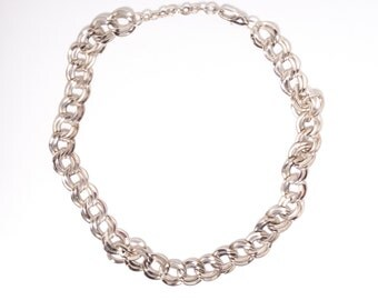 Rhodium Plated Vintage Silver Necklace