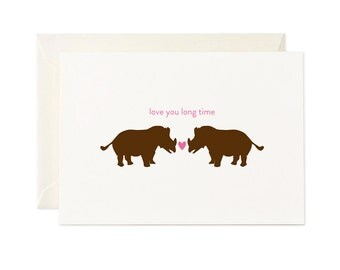 Love You Long Time - gift card - Any occasion greeting card