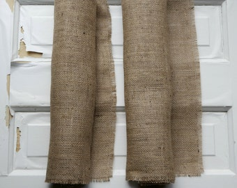 Rustic Burlap Table Runner 14 by 96 inches