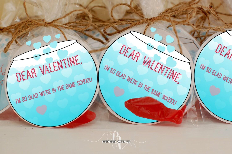 fish bowl same school valentines - Valentines For School