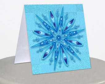 Blue, Snowflake, Mini Notecards, Turquoise, Winter, Snow, Ice, Note Cards, Minis, Thank You, Lunch Box Notes