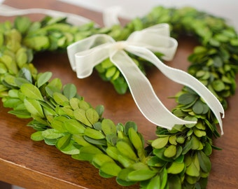 Preserved Boxwood Mini Heart Wreaths, mini heart wreath, small heart wreaths, small valentines day wreath