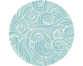 Sky and Sea Crib Sheets, Changing Pad Covers, Indie Fabric Printed Just for You