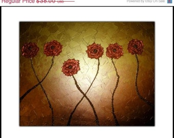 PRINT With MATTE of Gold Rose Painting Sale 22% Off