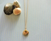 Endless summer necklace -  14k gold fill seashell charm & gold chain - beach jewelry