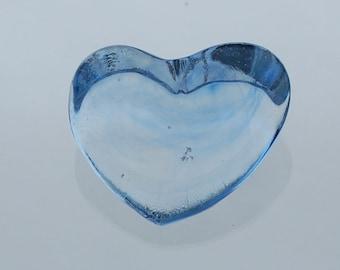 Glass Heart Paperweight