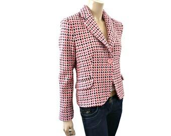 ROSE French Vintage Soft Pink Tweed Jacket