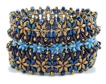 Bead Tutorial for Superduo and Two Hole Triangle Garden Row Cuff