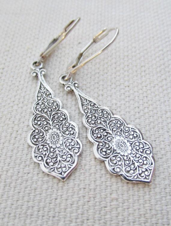 dangling silver earrings sterling silver by