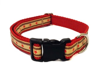 Red Star Country Western Dog Collar - Medium Dog Collar, Leash