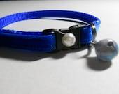 Soft Velvet Cat or Kitten Breakaway Collar - Royal Blue