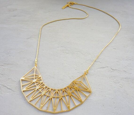 Short golden gate necklace geometric necklace signature for Golden gate bridge jewelry