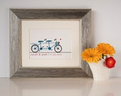 Personalized Print - Bicycle Built for Two