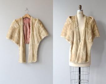 Sheared Blonde Mink stole | vintage 1940s fur stole • sheared fur stole