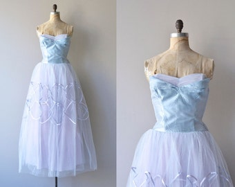 Bel Canto dress | vintage 1950s dress • strapless 50s party dress
