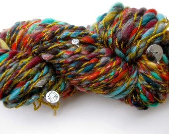 handspun art yarn, 8 Treasures of Tibet